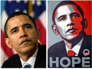 Shepard Fairey Hope Barak Obama