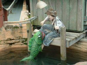 Boy Fishing by Wayne Seddon
