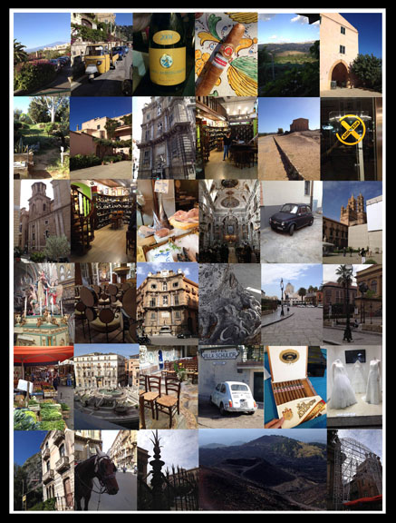 sicily collage