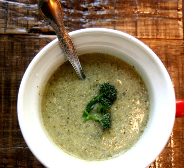 cream of broccoli soup - dairy free